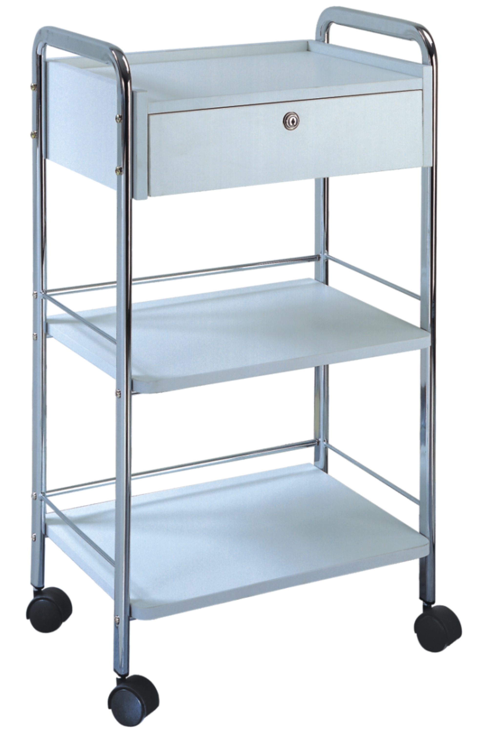 1 drawer lockable trolley professional make up salon for Salon trolley